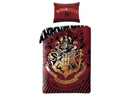 HALANTEX Povlečení Harry Potter burgund Bavlna, 140/200, 70/90 cm
