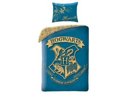 HALANTEX Povlečení Harry Potter blue Bavlna, 140/200, 70/90 cm