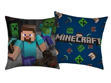 HALANTEX Polštářek Minecraft Steve Polyester, 40/40 cm
