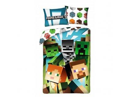 HALANTEX Povlečení Minecraft Alex a Steve Bavlna, 140/200, 70/90 cm
