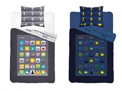 DETEXPOL Povlečení Telefon svítící Bavlna, 140/200, 70/80 cm