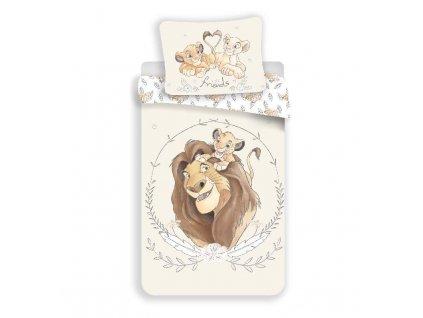 JERRY FABRICS Povlečení Lví Král Circle Bavlna, 140/200, 70/90 cm