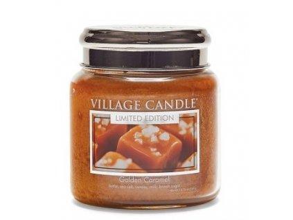 46334 village candle vonna svicka ve skle zlaty karamel golden caramel 16oz