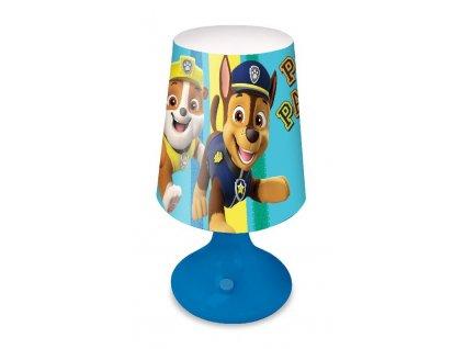 EUROSWAN Noční stolní LED lampička Paw Patrol Chase a Rubble Plast, 18x9 cm