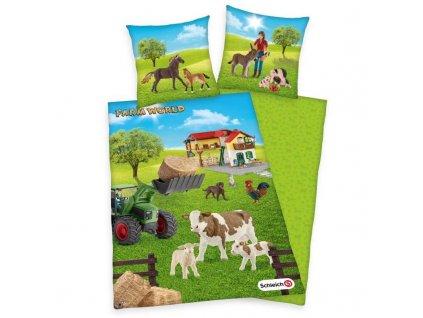 HERDING Povlečení Schleich Farm World Bavlna, 140/200, 70/90 cm