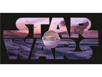 JERRY FABRICS Osuška Star Wars Mandalorian Bavlna - Froté, 70/140 cm