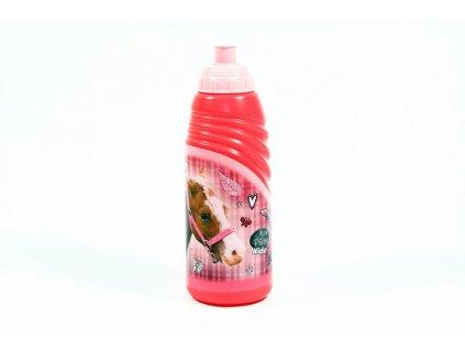 Láhev na pití Nice and Pretty Kůň růžová-skladem