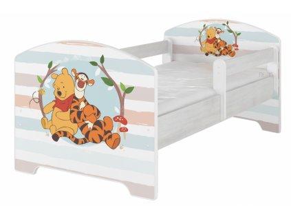 BabyBoo Dětská postel Disney - Medvídek PÚ proužek