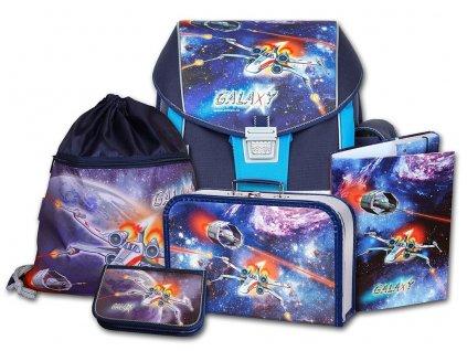 Školní aktovkový set ERGO ONE Galaxy 5-dílný