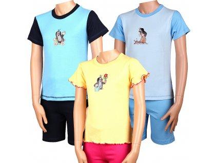 KR 012 dětské pyžamo krátký rukáv_ Krteček