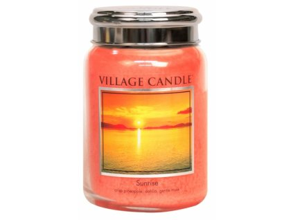 47013 12537 village candle vonna svicka ve skle vychod slunce sunrise 26oz
