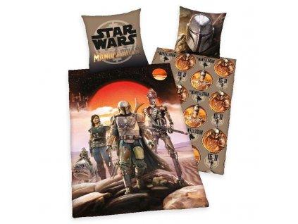 HERDING Povlečení Star Wars Mandalorian Bavlna, 140/200, 70/90 cm