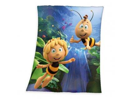 HERDING Soft fleece deka Včelka Mája vodopád Polyester, 130/160 cm