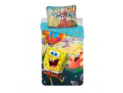 JERRY FABRICS Povlečení SpongeBob Movie Bavlna, 140/200, 70/90 cm