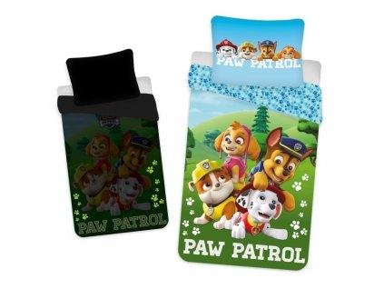 JERRY FABRICS Povlečení Paw Patrol PP203 svítící Bavlna, 140/200, 70/90 cm