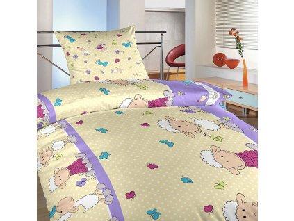 Ovecky velke fialove postel