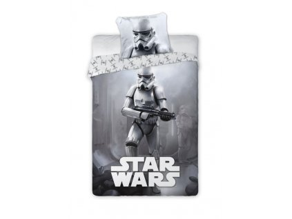 FARO Povlečení Star Wars grey Bavlna, 140/200, 70/90 cm