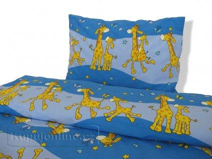 Dětské povlečení Žirafa modrá d41 90/130
