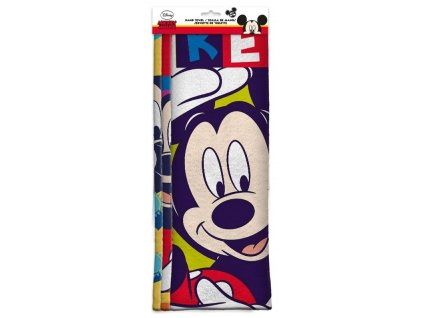EUROSWAN Sada 3 ks dětských ručníků Mickey micro Polyester, 30/40 cm