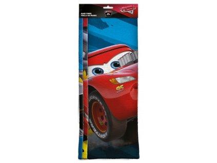 EUROSWAN Sada 3 ks dětských ručníků Cars micro Polyester, 30/40 cm