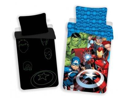 JERRY FABRICS Povlečení Avengers 02 svítící Bavlna, 140/200, 70/90 cm