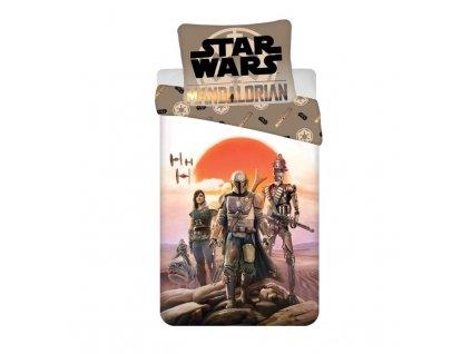 JERRY FABRICS Povlečení Star Wars Mandalorian Bavlna, 140/200, 70/90 cm