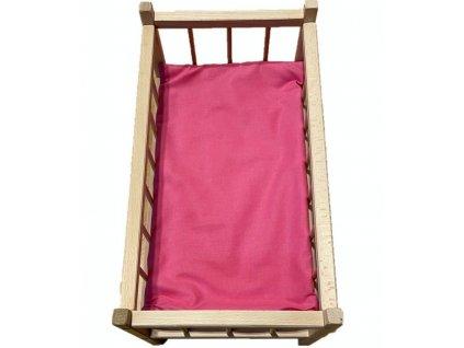 SDS Matrace do postýlky pro panenky Růžová Bavlna, výplň: Polyester, 50/28 cm
