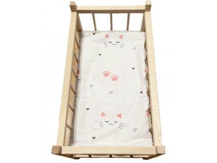 SDS Matrace do postýlky pro panenky Kočičky bílá Bavlna, výplň: Polyester, 50/28 cm