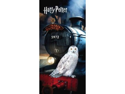 JERRY FABRICS Osuška Harry Potter Hedwig Bavlna - Froté, 70/140 cm