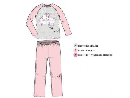 Dívčí pyžamo Hello Kitty-Charmmy Kitty 2159 ŠEDORŮŽOVÉ