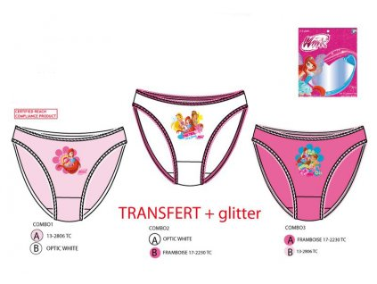 Dívčí kalhotky WINX tripack 3068
