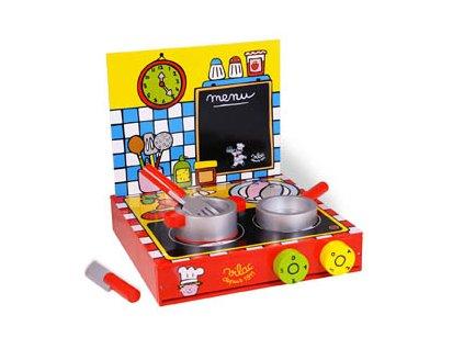 KidKraft Dětská dřevěná kuchyňka, kufřík
