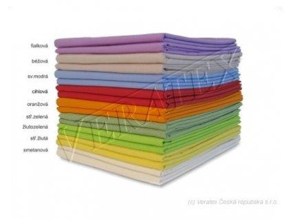 Bavlněné plátěné prostěradlo 2 Lůžko plachta 220x240 barevné Veratex