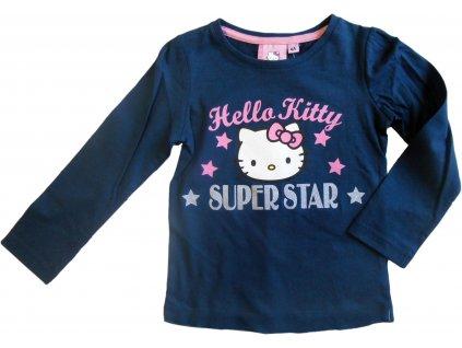 Triko Hello Kitty dlouhý rukáv 1756 modré