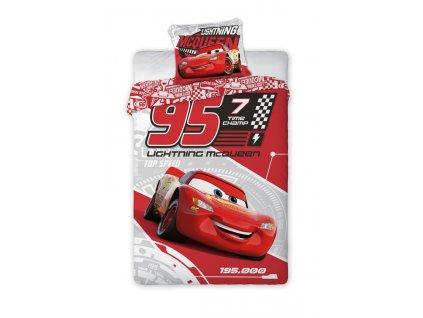 Povlečení Cars 3 Blesk McQueen 140/200, 70/90