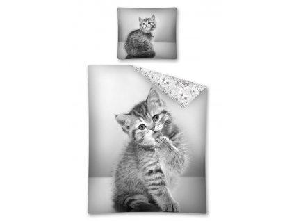DETEXPOL Povlečení Sweet Animals kotě Bavlna, 140/200, 70/80 cm