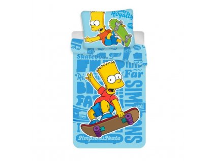 Povlečení Bart Simpson Blue 02 skater 140/200, 70/90 - skladem ST-075933