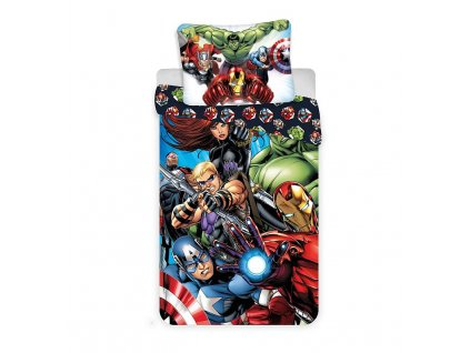 JERRY FABRICS Povlečení Avengers 03 Bavlna, 140/200, 70/90 cm