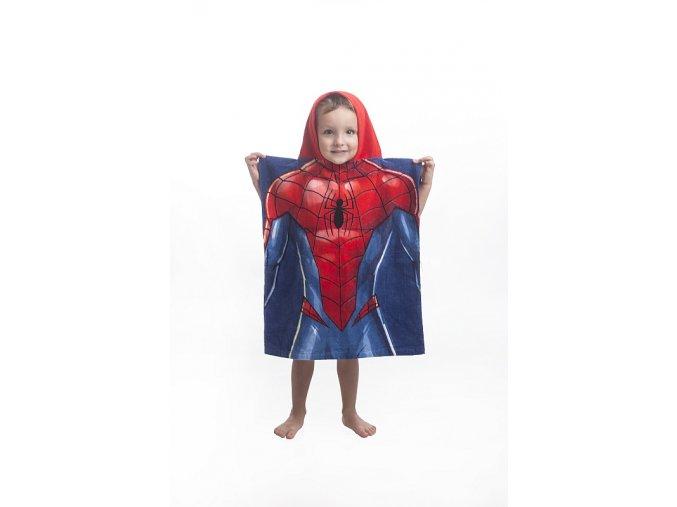 Pončo Spiderman blue 50/115