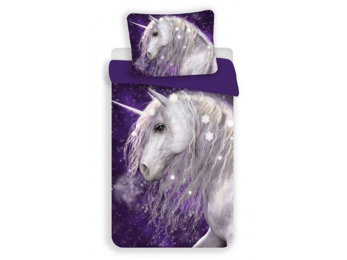 Povlečení Jednorožec purple 140/200, 70/90 - skladem