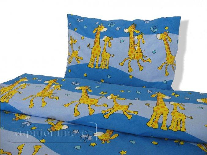 Ložní povlečení Žirafa modrá D41 140/200
