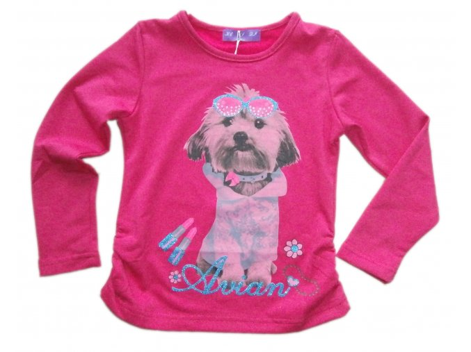 triko pes růžové