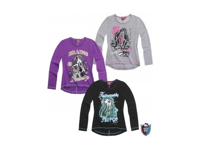Dívčí triko Monster High dlouhý rukáv LL800900