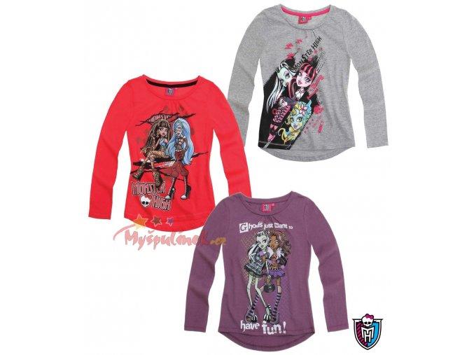 Dívčí triko Monster High dlouhý rukáv WS 814915