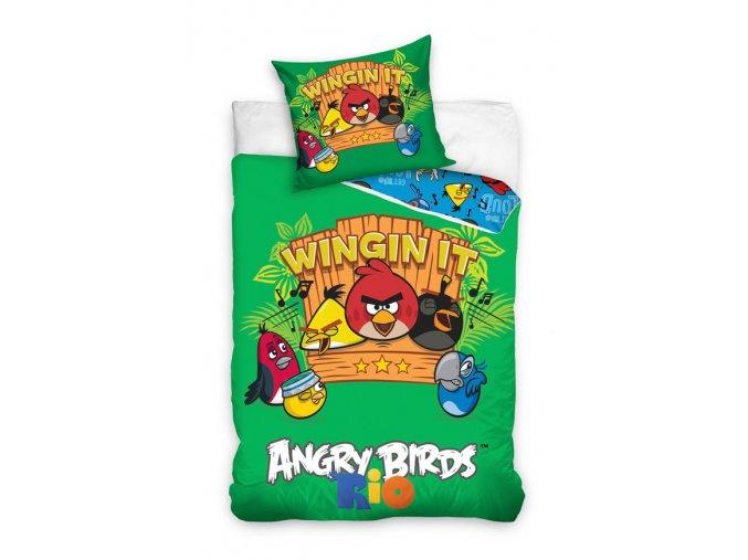 Povlečení Angry Birds Rio hudba 140/200 SKLADEM