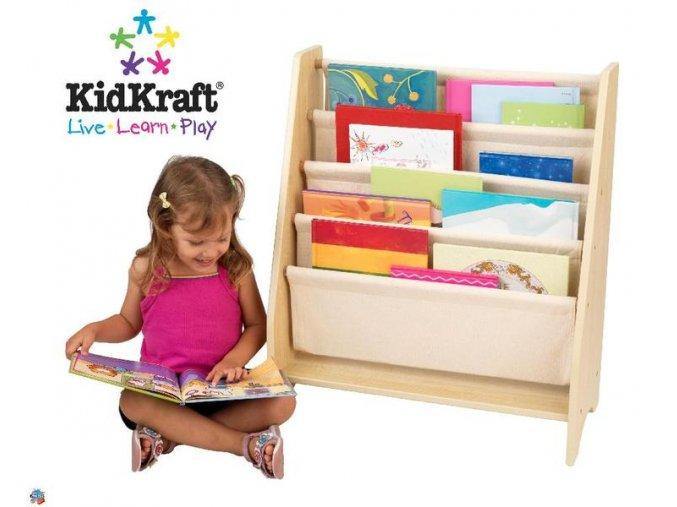 KidKraft Dětská knihovna Sling Natural