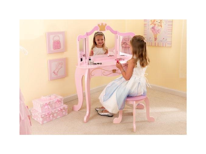 KidKraft Toaletní stolek se stoličkou, Princezna