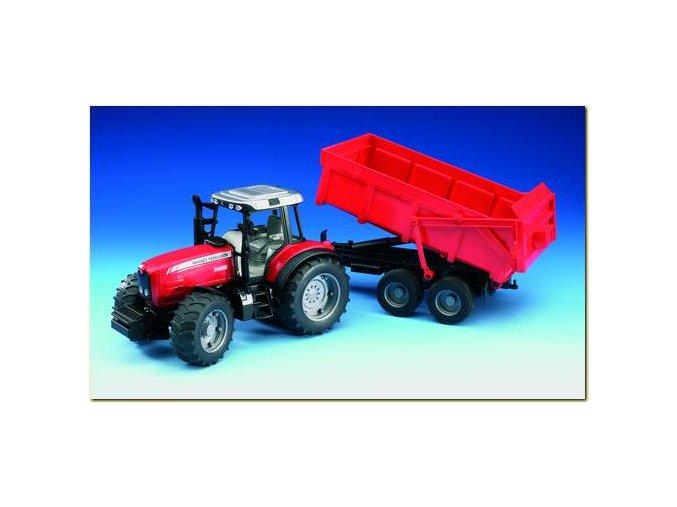 Traktor Massey Ferguson 7480 s valníkem 02045
