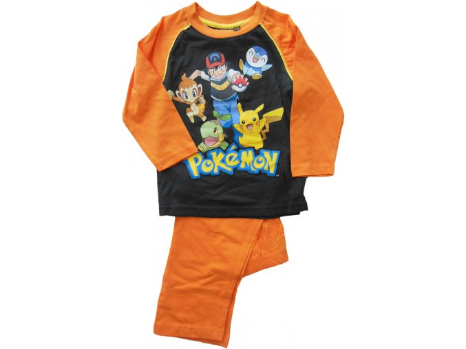 pyžamo Pokémon oranžové