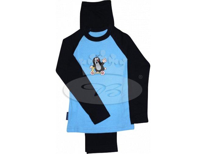 Pyžamo KRTEČEK 007 VZOR D modro-tmavě modrá